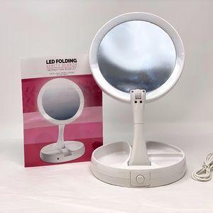 10x Magnifying Vanity Mirror w/  LED  Light new